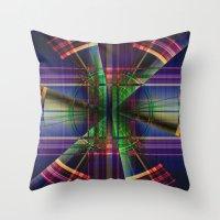 Plaid Movement 001 Throw Pillow