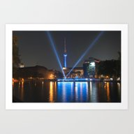 Art Print featuring BERLIN Lights On  by CAPTAINSILVA