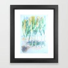 Kashgar Poplars Framed Art Print