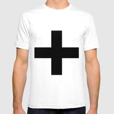 Black Plus on White /// www.pencilmeinstationery.com Mens Fitted Tee SMALL White