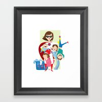 Super Mom Framed Art Print
