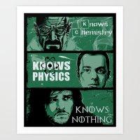 Knowledge Rules Art Print