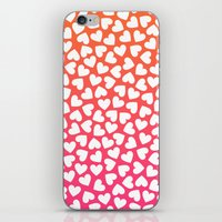 White Hearts On Pink-Ora… iPhone & iPod Skin