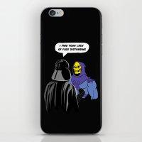 Vader Skeletor I Find your lack of face disturbing  iPhone & iPod Skin