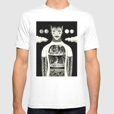Under Skin SMALL Mens Fitted Tee White
