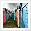 Beach Huts 01A Art Print