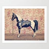 Vintage Horse  Art Print