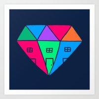 Mansions Art Print