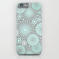 Mint And Grey Geometric … iPhone 6 Slim Case