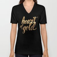 Heart of Gold Unisex V-Neck