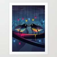 Disco Love Art Print
