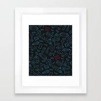 Crystals Pattern Framed Art Print
