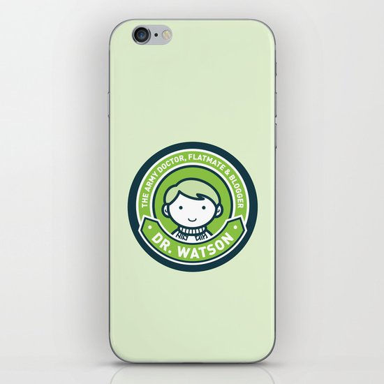 Cute John Watson - Green iPhone & iPod Skin