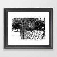 On The Fence Framed Art Print
