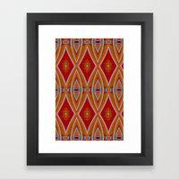Native Pattern 5 Framed Art Print