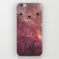 Burgundy Star Mandala iPhone & iPod Skin