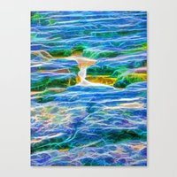 Abstract rock pool in the rough rocks in Queensland Canvas Print