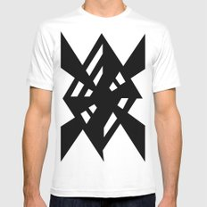 Random White Mens Fitted Tee SMALL