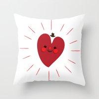 Happy Heart Throw Pillow