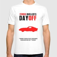 Ferris Bueller's Day Off Movie Poster Mens Fitted Tee White SMALL