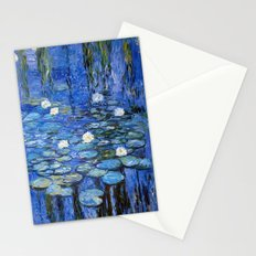 water lilies a la Monet Stationery Cards