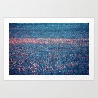pink lawn Art Print