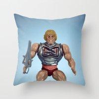 He-Man Battle Damage  Throw Pillow