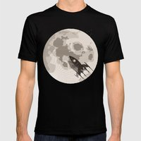 Around The Moon Mens Fitted Tee Black SMALL