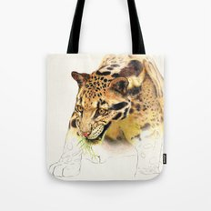 Clouded Panther Tote Bag