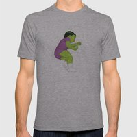 Toddler Hulk SMASH! Mens Fitted Tee Athletic Grey SMALL