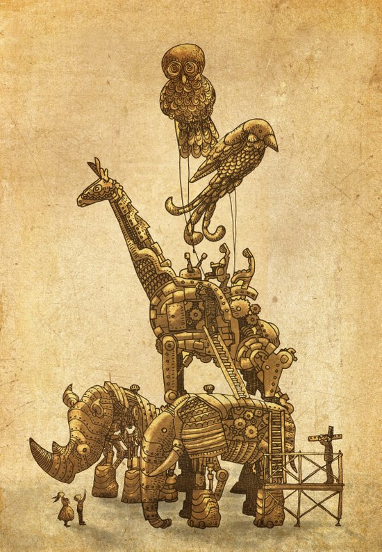 Mechanical Menagerie  Art Print