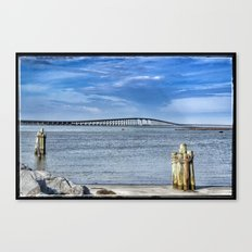 Bridge to sand and sea Canvas Print