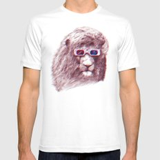 3D Lion SMALL Mens Fitted Tee White