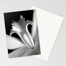 Black and white orchid  Stationery Cards