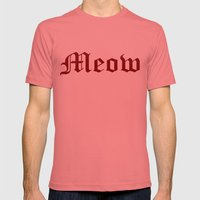 Meow Mens Fitted Tee Pomegranate SMALL