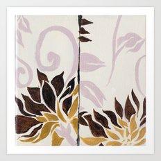 spying eye 3 (curtains) Art Print