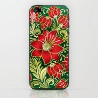 Shabby Flowers #4 iPhone & iPod Skin