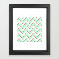 3D CHEVRON 2 Framed Art Print