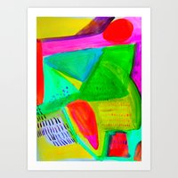Marina I - Abstract Painting Art Print