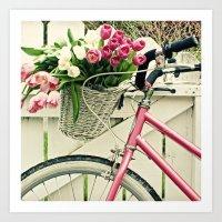 Pink Bike Art Print