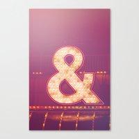 Neon Ampersand Canvas Print