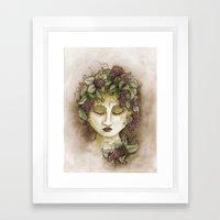Vineyard Nymph Framed Art Print