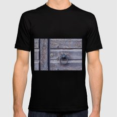 The Door knocker Mens Fitted Tee Black SMALL