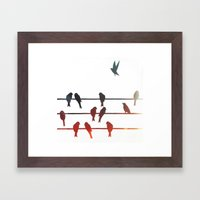 Birds On A Wire (2) Framed Art Print