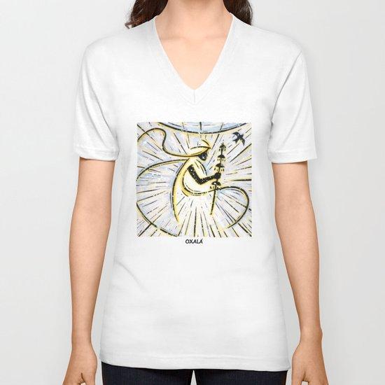 Orixás - Oxalá V-neck T-shirt