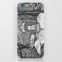 iPhone & iPod Case featuring Fox riding moose by Ulrika Kestere