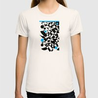 Black And Blue And White… Womens Fitted Tee Natural SMALL
