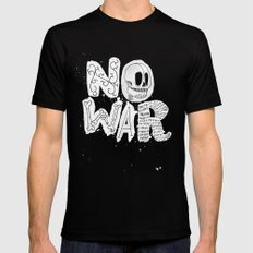 No War SMALL Mens Fitted Tee Black