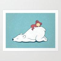 Polar nap Art Print