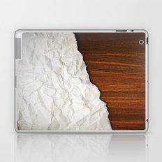 Wooden Crumbled Paper Laptop & iPad Skin